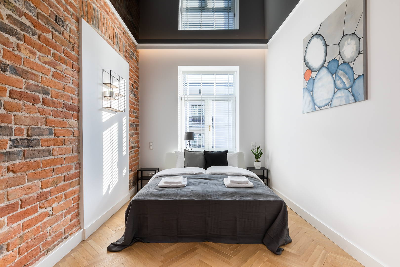 Bed at Wspolna Apartments