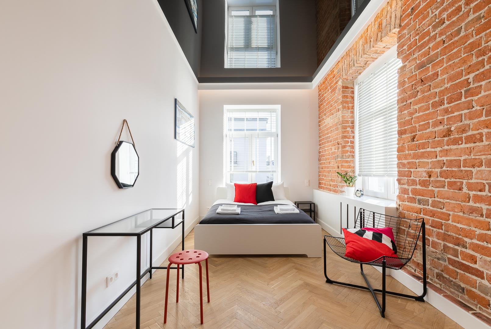 Bedroom at Wspolna Apartments