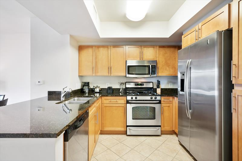 Kitchen at Gramercy Serviced Apartments