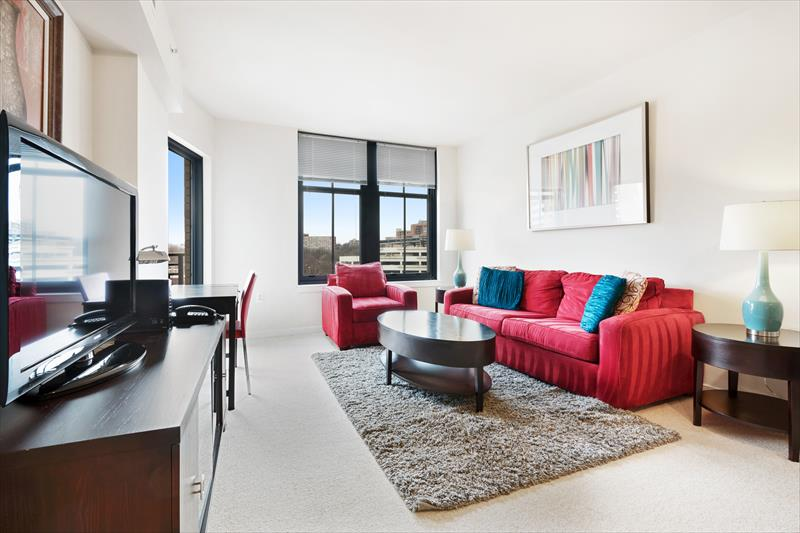 Living room at Gramercy Serviced Apartments