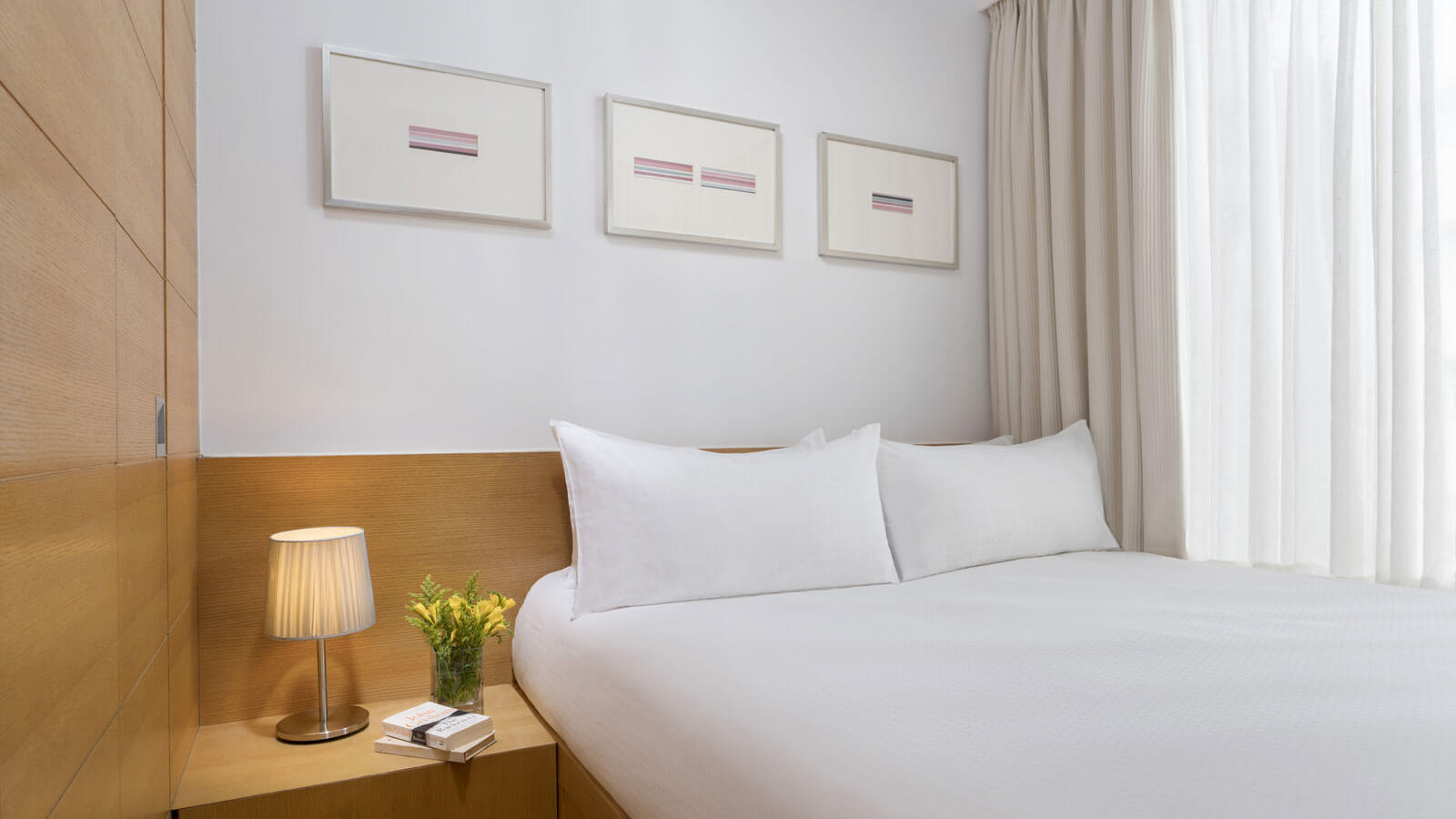 Bedroom at Hollywood Serviced Apartments