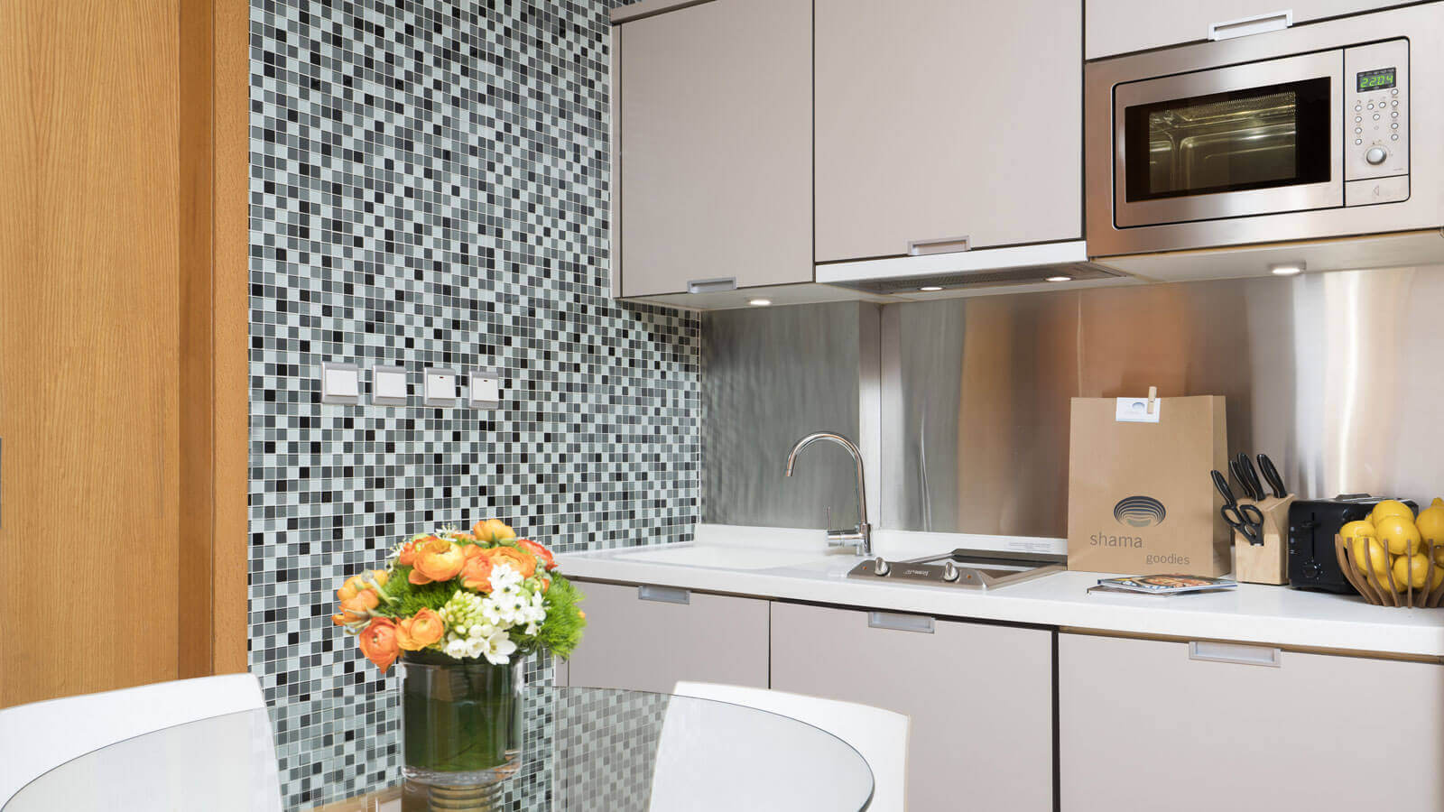 Kitchen at Hollywood Serviced Apartments
