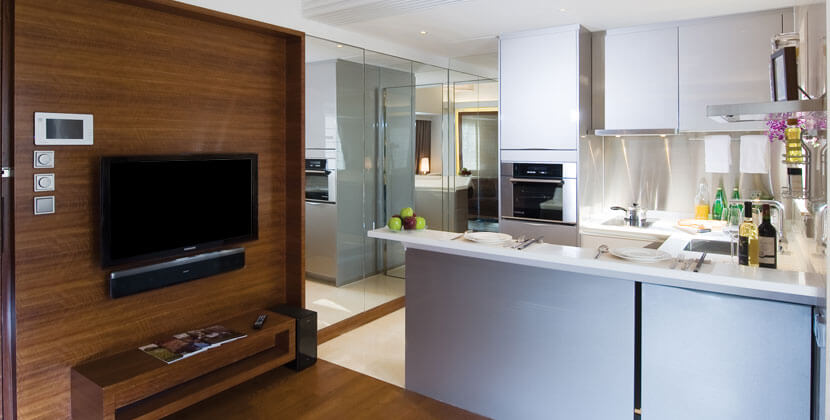 Kitchen at Midlevels Serviced Apartments