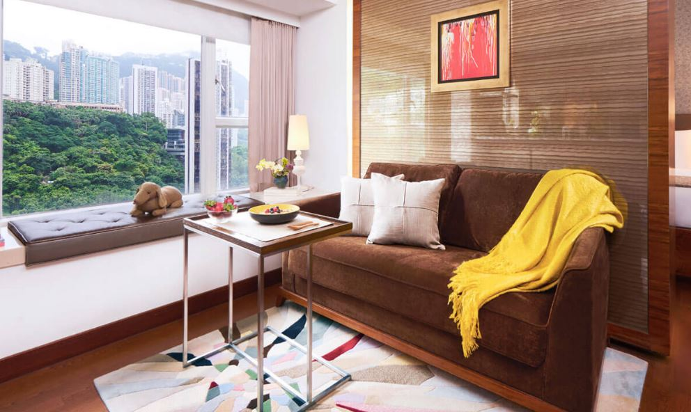 Living area at Midlevels Serviced Apartments