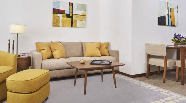 Living room at Island North Apartments