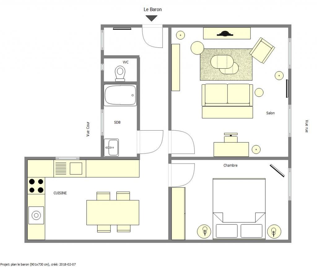 Floor plan at Lebaron Apartment