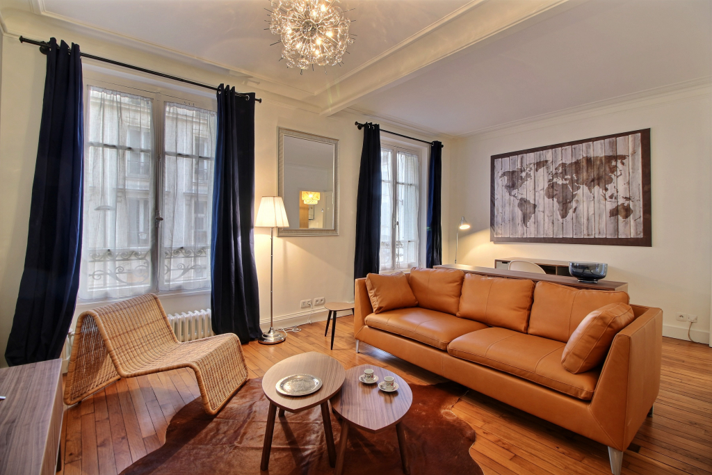Living room at Lebaron Apartment