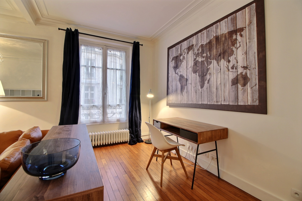 Desk area at Lebaron Apartment