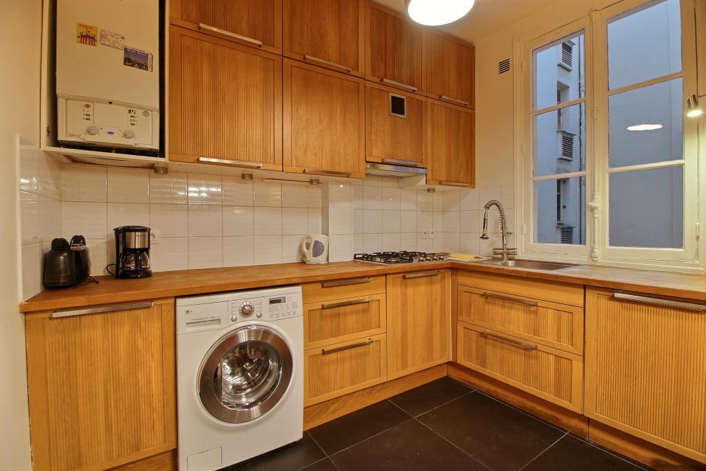 Laundry facilities at Lebaron Apartment