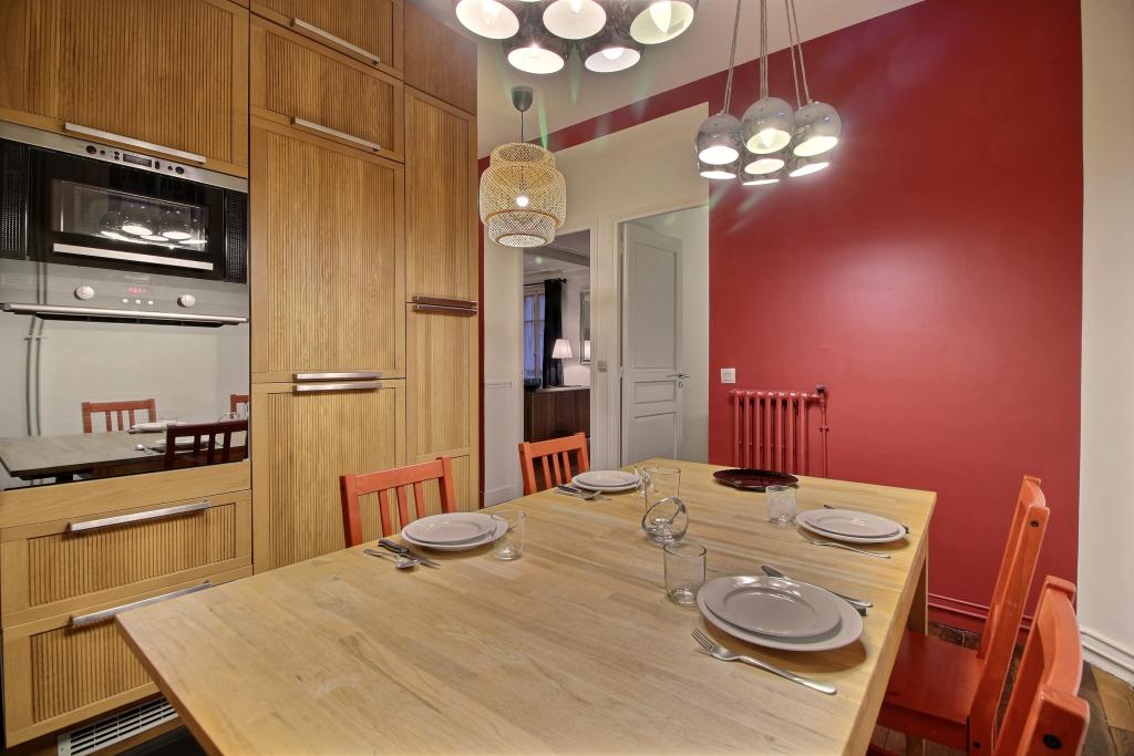 Eating area at Lebaron Apartment