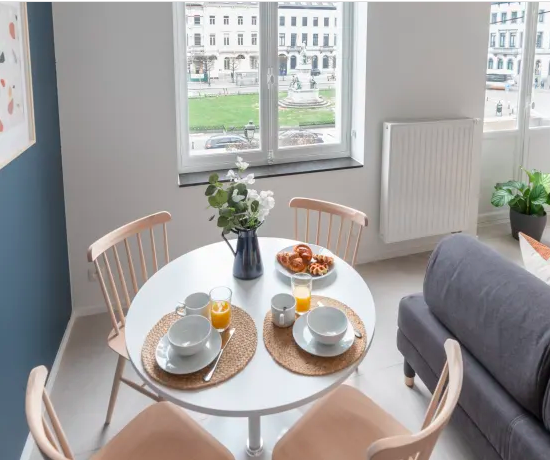 Dining area at Luxembourg Apartment