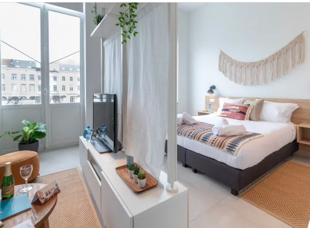 Bedroom at Luxembourg Apartment