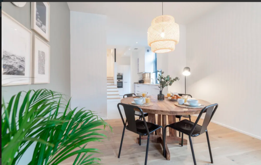 Dining table at Luxembourg Apartment