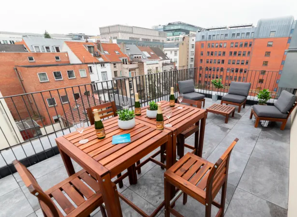 Terrace area at Luxembourg Apartment