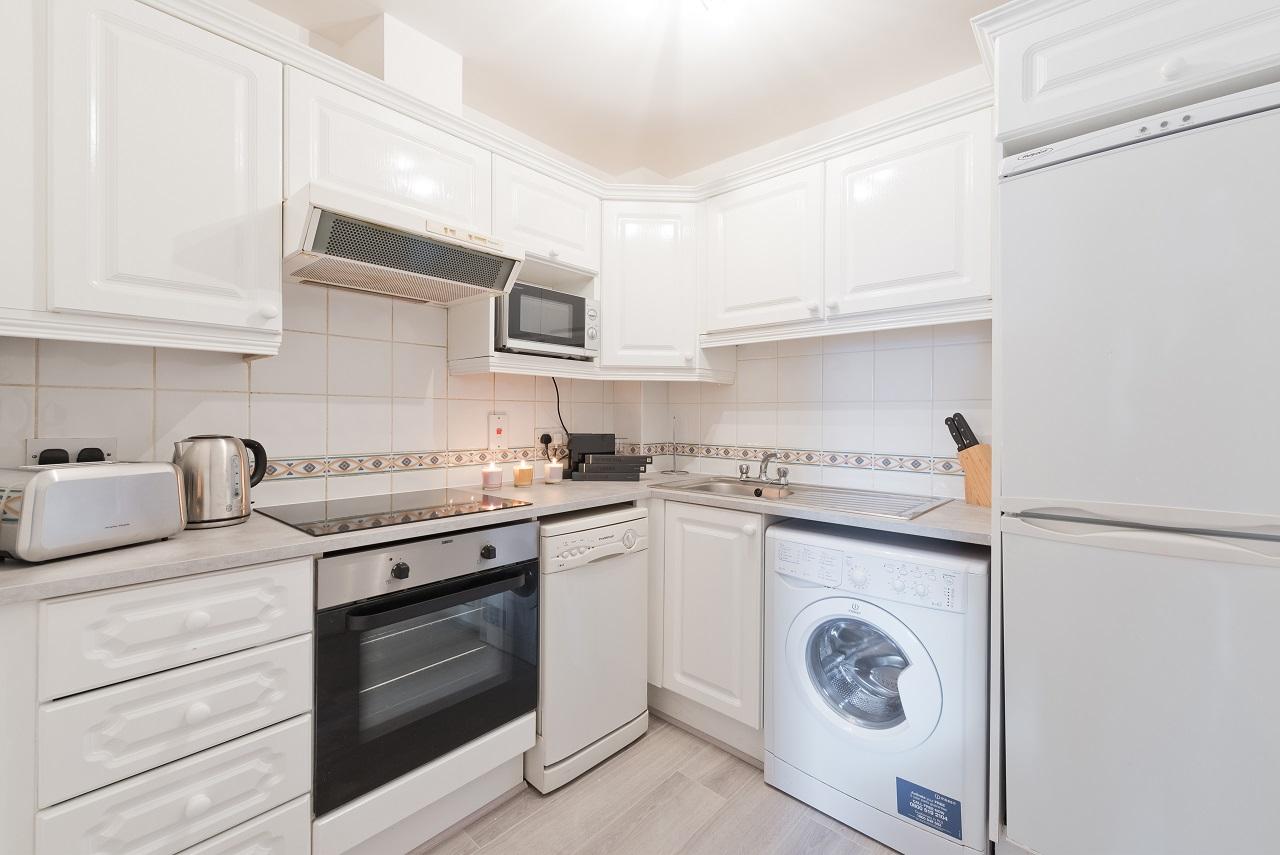 Kitchen at Lansdowne Square Apartment