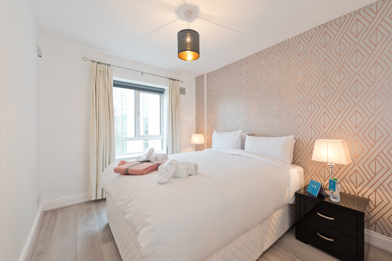 Bedroom at Lansdowne Square Apartment