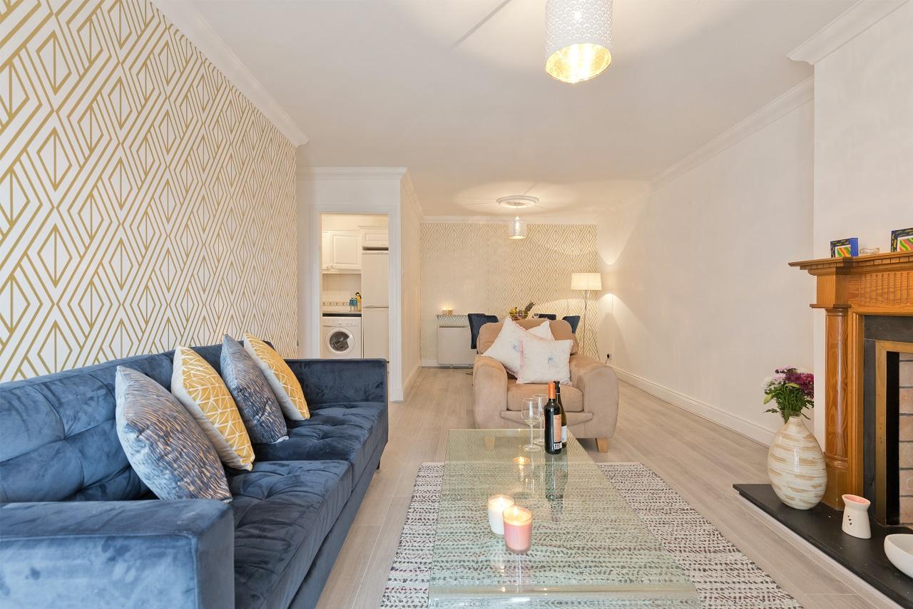 Stylish living area at Lansdowne Square Apartment