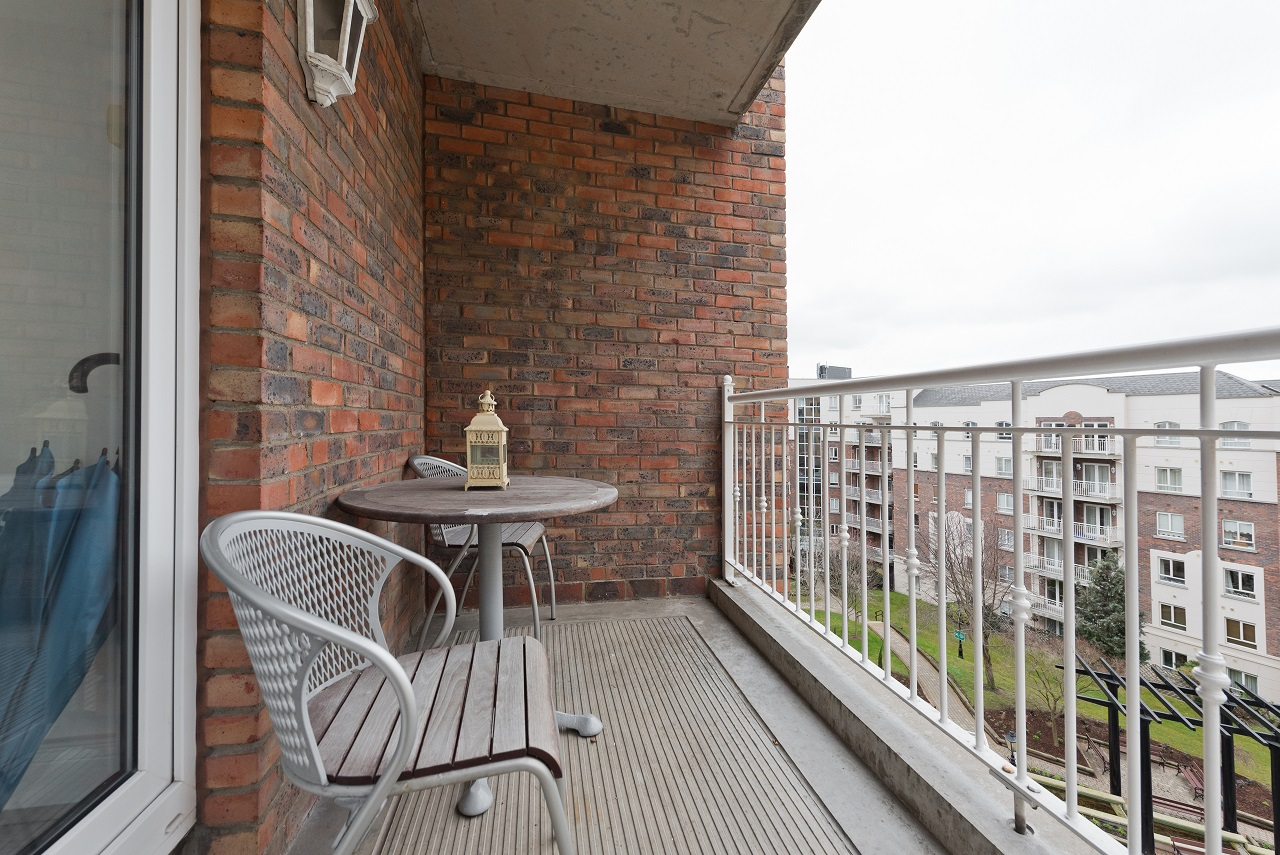 Balcony at Lansdowne Square Apartment