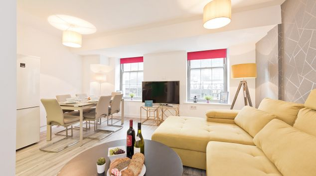 Living area at Crown Temple Bar Apartment, Centre, Dublin