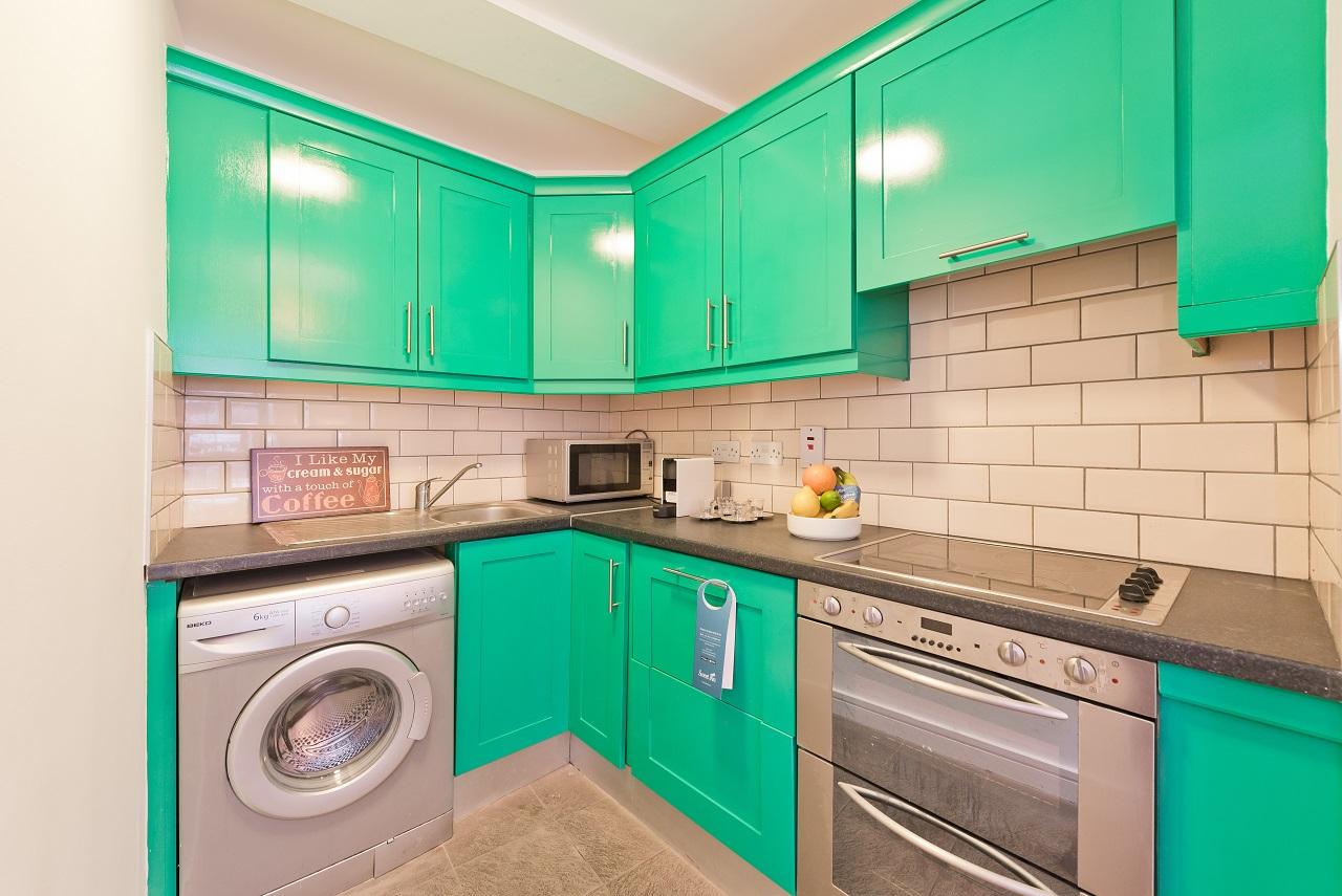 Kitchen at Crown Temple Bar Apartment, Centre, Dublin