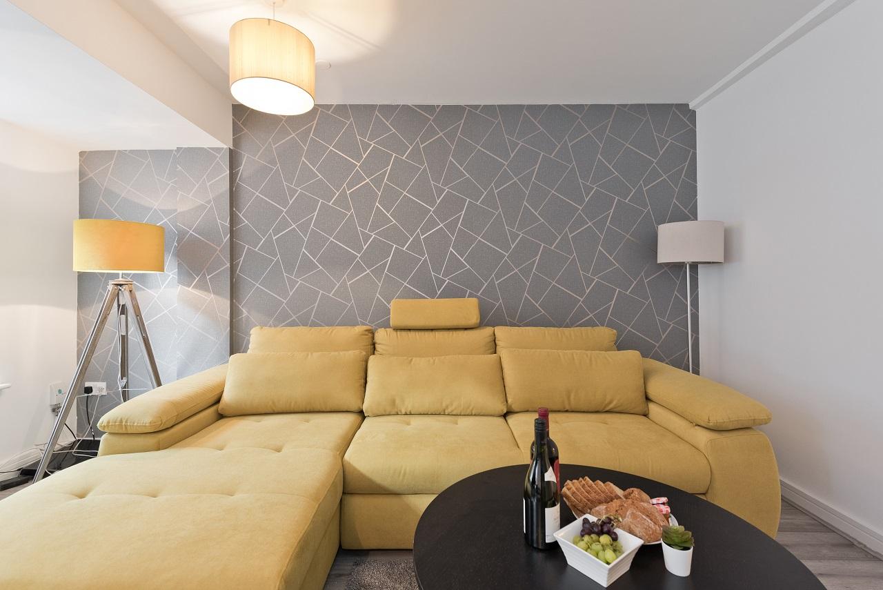 Sofa at Crown Temple Bar Apartment, Centre, Dublin