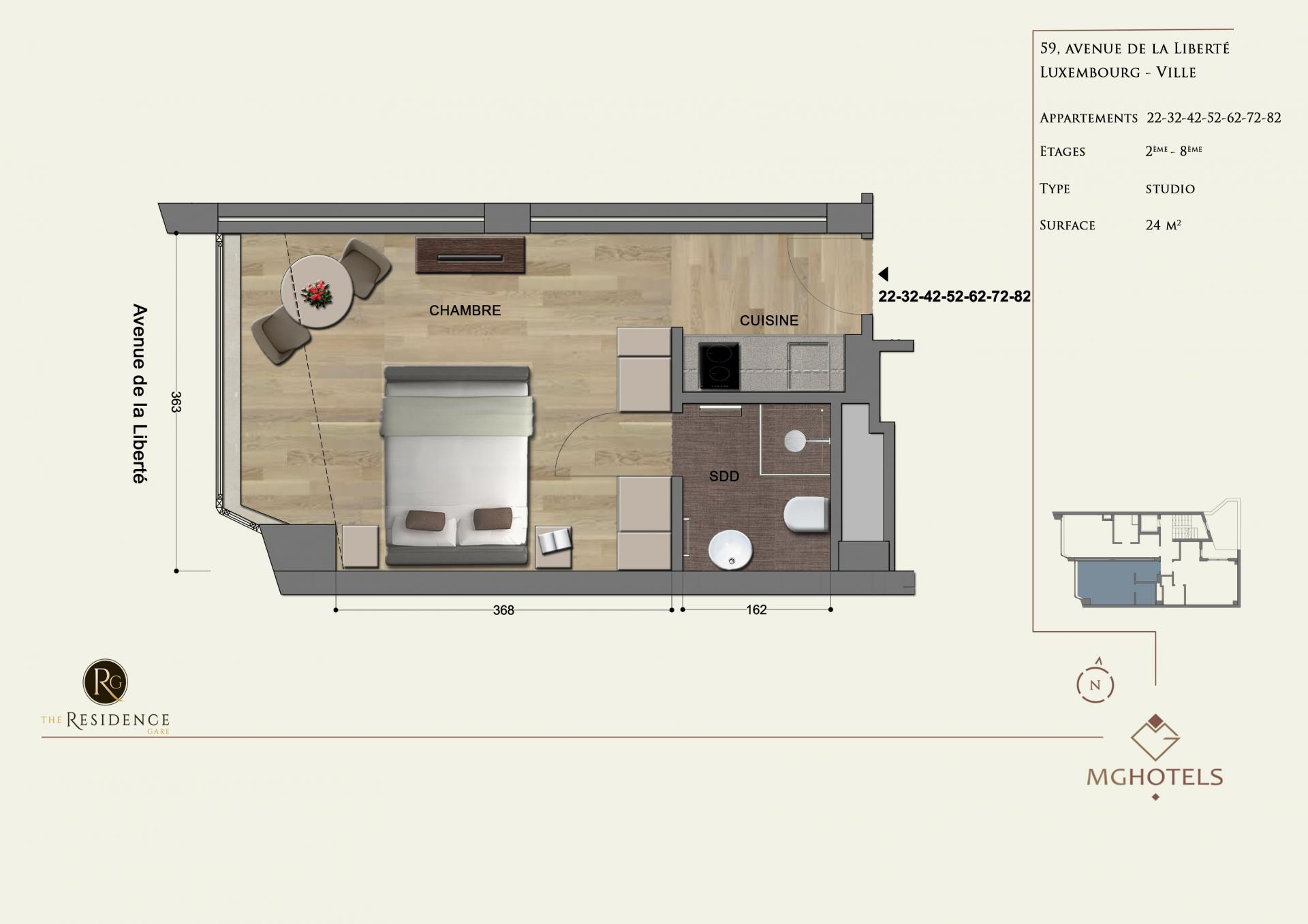 Floor plan 4 at The Residence Gare, Gare, Luxembourg