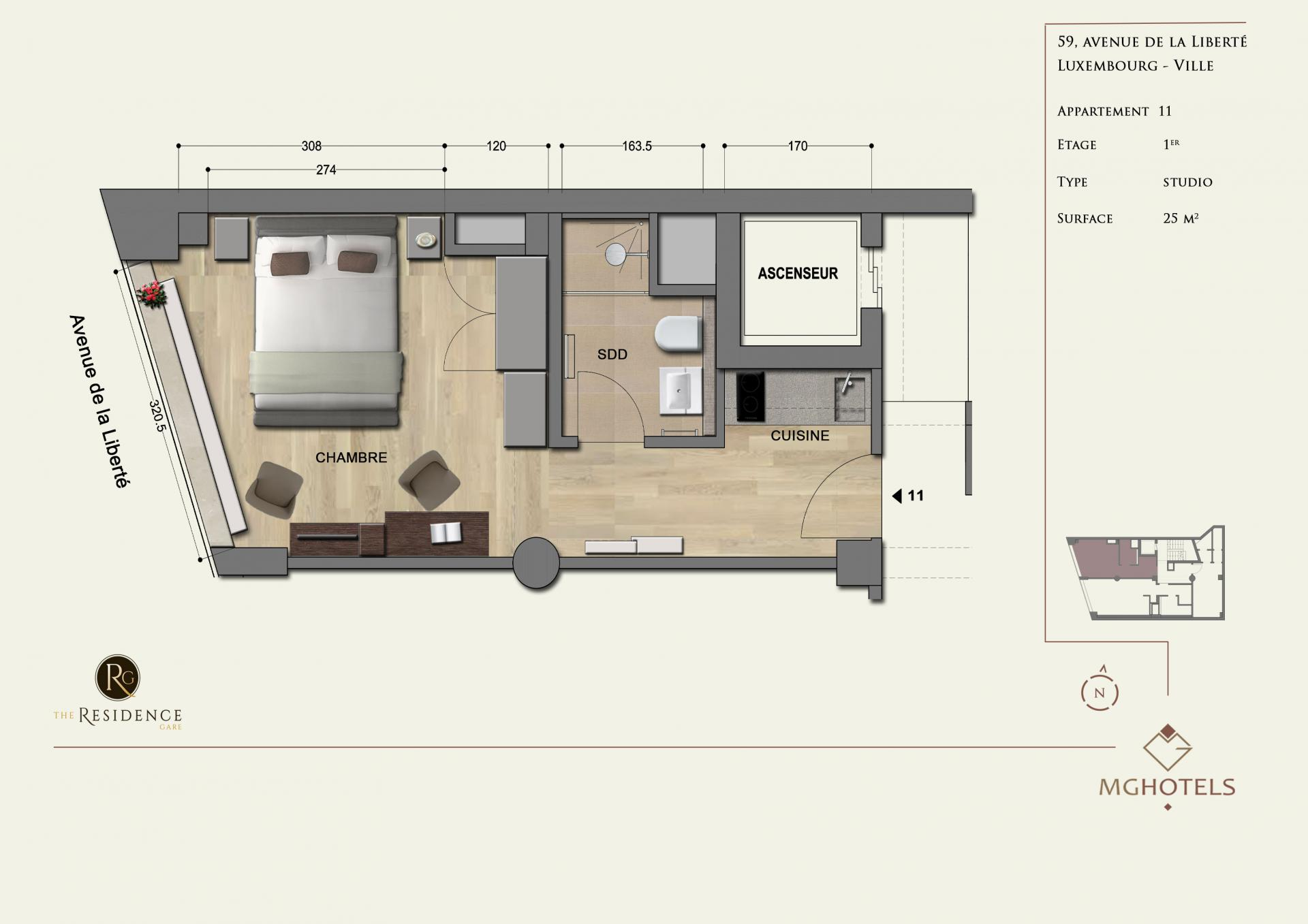 Floor plan 5 at The Residence Gare, Gare, Luxembourg