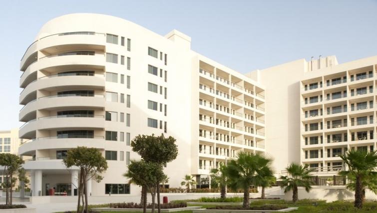 Grand exterior of Staybridge Suites Abu Dhabi - Yas Island