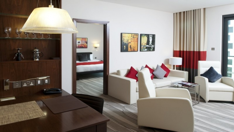 Stunning living area in Staybridge Suites Abu Dhabi - Yas Island
