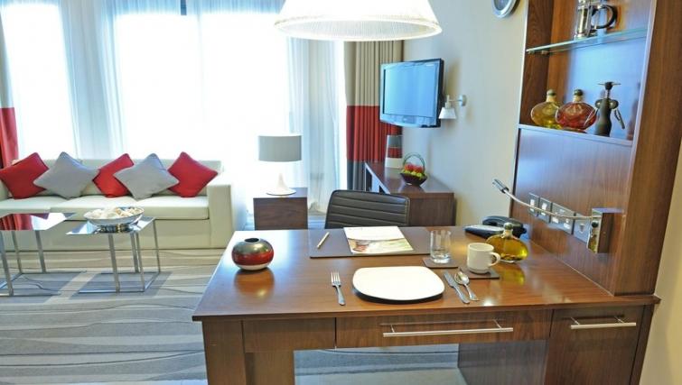 Stylish dining area in Staybridge Suites Abu Dhabi - Yas Island