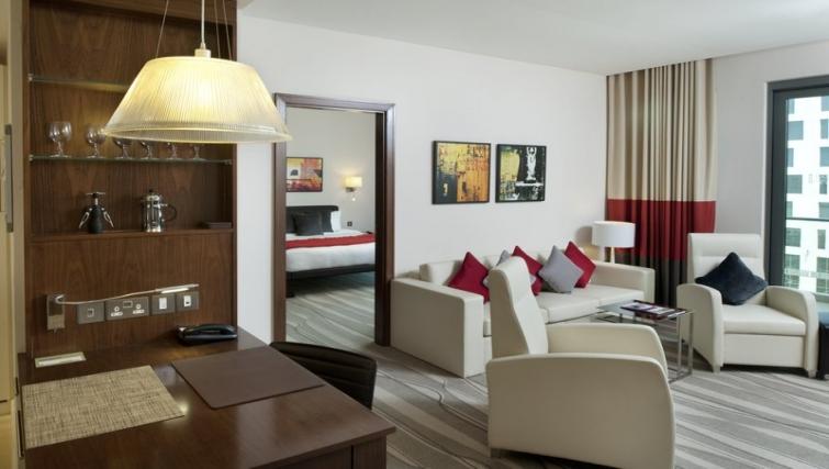 Bright bedroom in Staybridge Suites Abu Dhabi - Yas Islandq