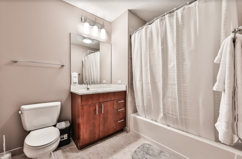 Bathroom at 215 West Serviced Apartment