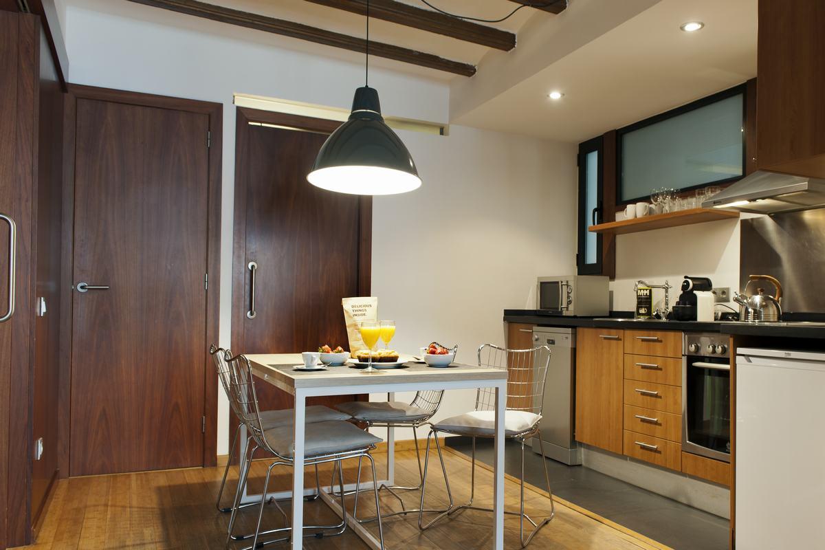 Dining table at MH Apartments Princesa