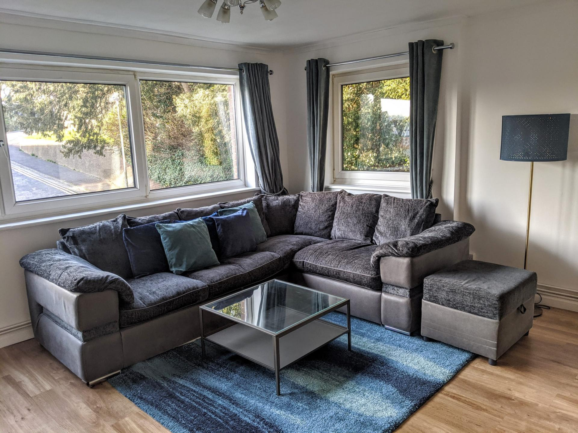 Sofa at Benjamin House Apartment, Centre, High Wycombe