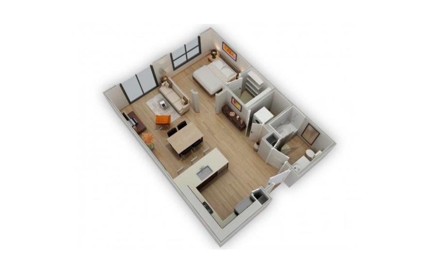 Floorplan 1 at Biltmore at Camelback Apartments
