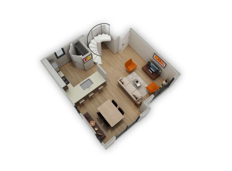 Floorplan 3 at Biltmore at Camelback Apartments