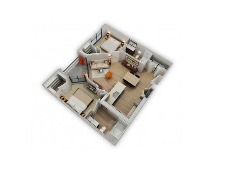 Floorplan 5 at Biltmore at Camelback Apartments
