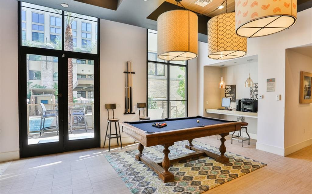 Pool table at Biltmore at Camelback Apartments