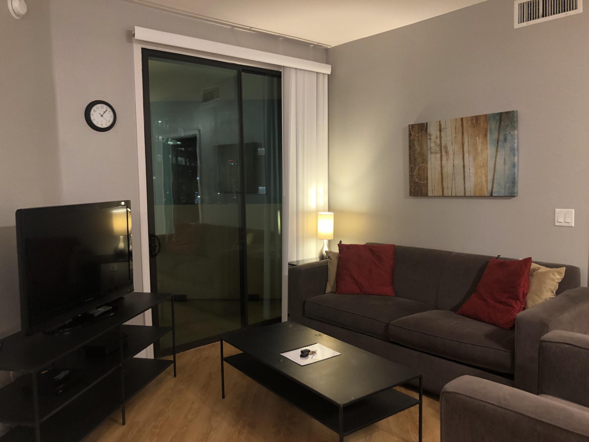 Living room at Biltmore at Camelback Apartments