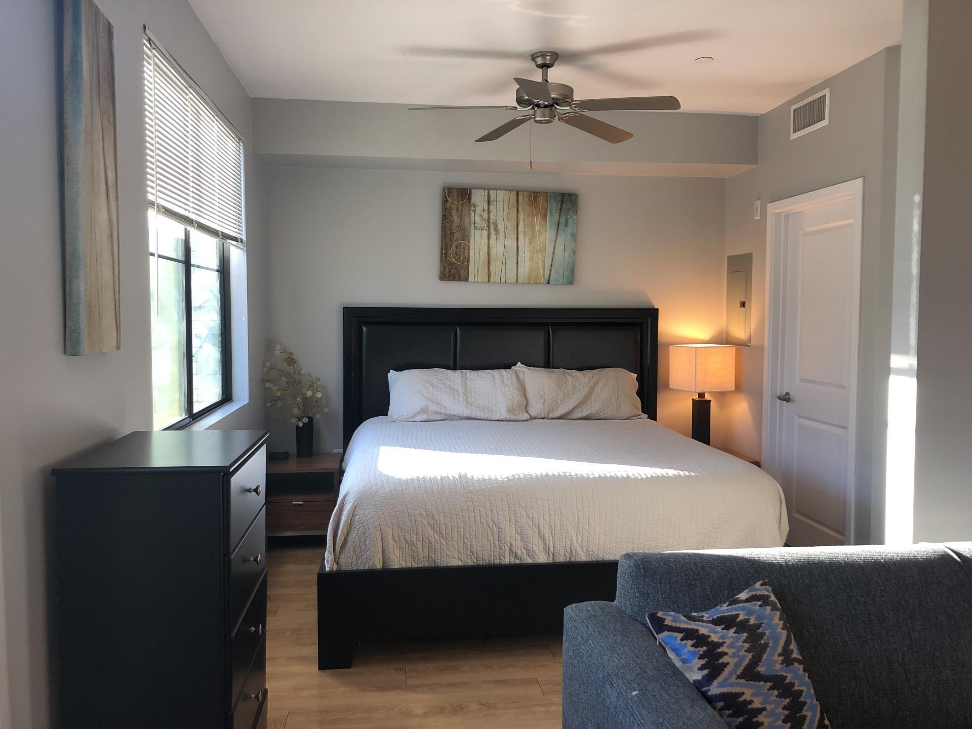 Bedroom at Biltmore at Camelback Apartments
