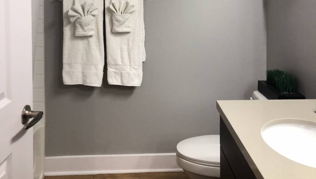Bathroom at Biltmore at Camelback Apartments