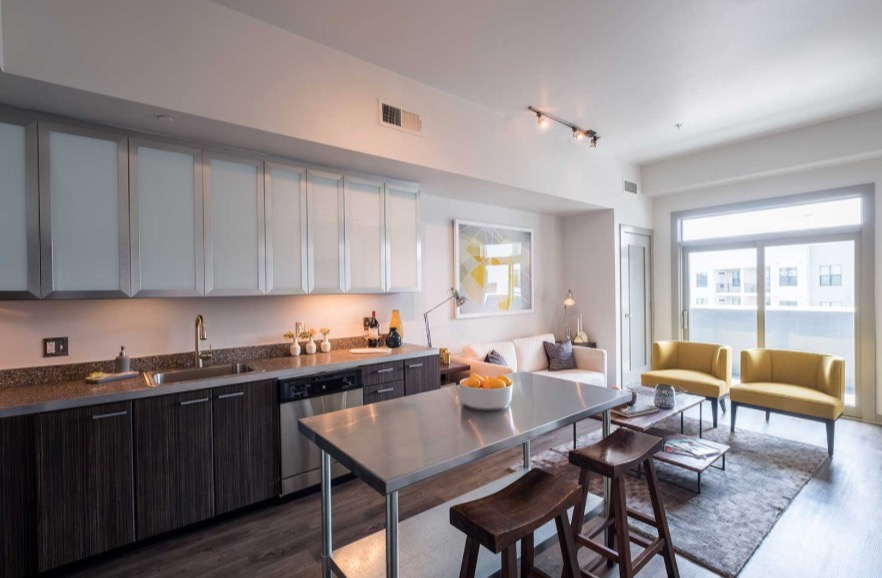 Kitchen at Velocity on The Gulch Apartment