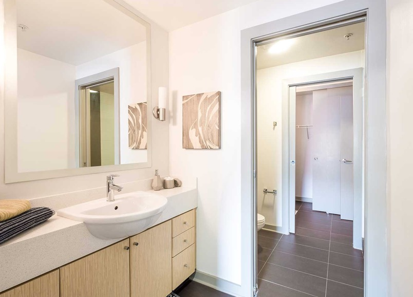 Bathroom at Velocity on The Gulch Apartment
