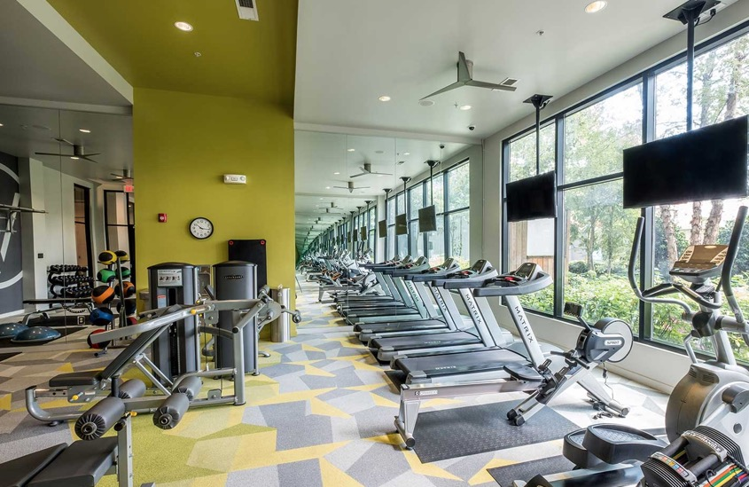 Gym at Velocity on The Gulch Apartment