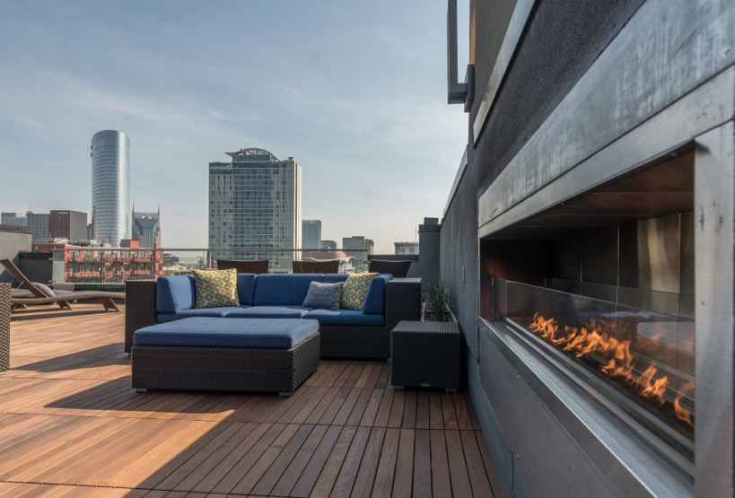 Roof deck at Velocity on The Gulch Apartment