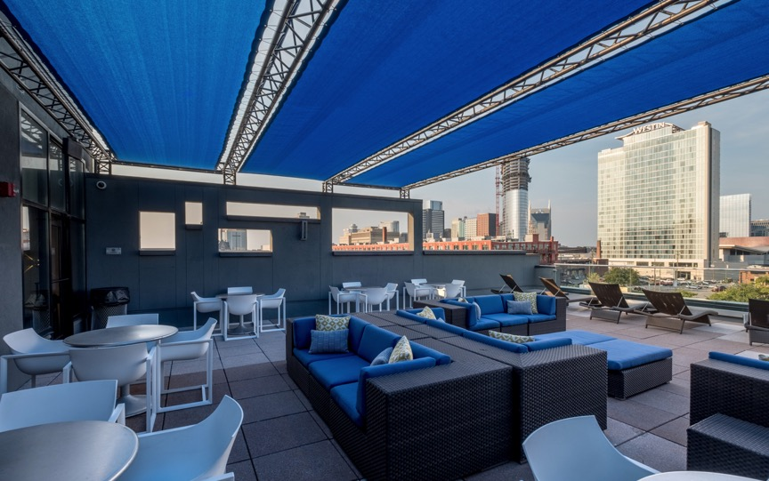 Roof terrace at Velocity on The Gulch Apartment