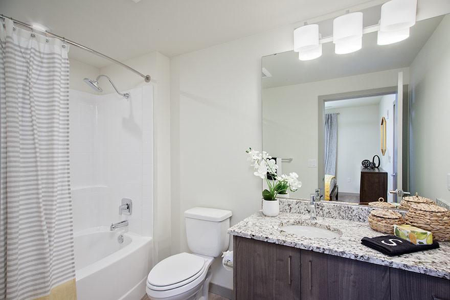Bathroom at Broadstone Saxton Apartment