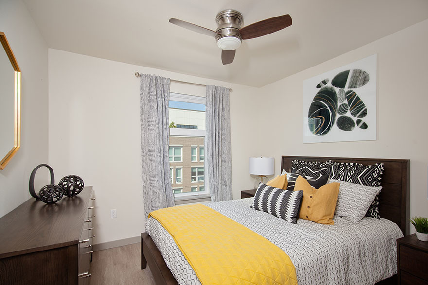 Bedroom at Broadstone Saxton Apartment