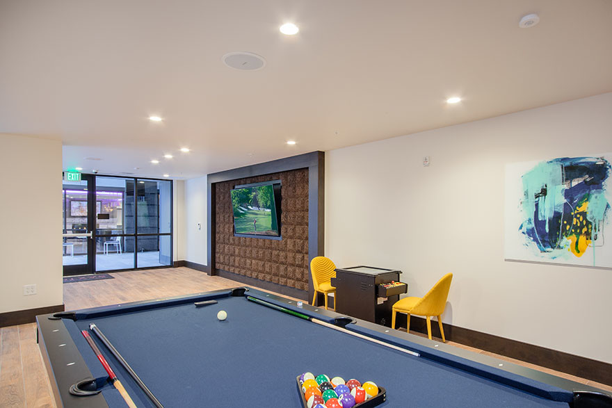 Game Room at Broadstone Saxton Apartment