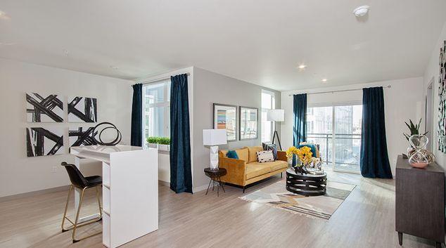 Living Room at Broadstone Saxton Apartment